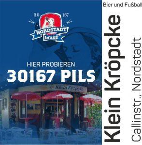 Im Klein Kröpke könnt ihr unser 30167 Bier geniessen