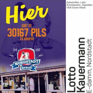 Im Lotto Kauermann könnt ihr unser 30167 Bier kaufen