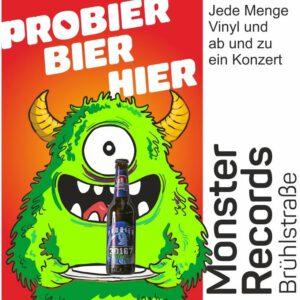 Bei Monster Records könnt ihr unser 30167 Bier kaufen