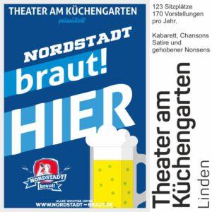 Im Theater am Küchengarten könnt ihr unser 30167 Bier geniessen