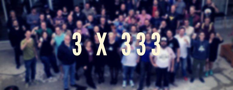 3 x 333